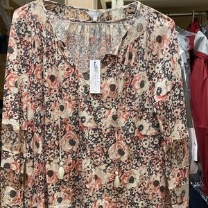 Lucky Brand Peasant Blouse Size Large NWT